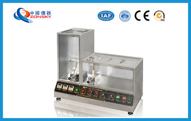 China Vertical Horizontal Flammability Tester For PE / PVC Fire Resistance Test factory