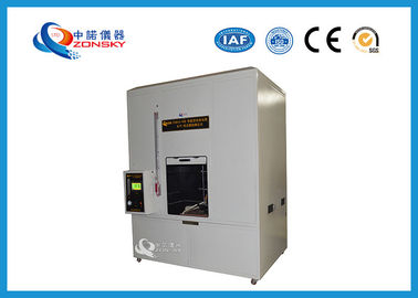 China ASTM D5025 Horizontal and Vertical Combustion / Flammability Tester For Wire and Cable factory