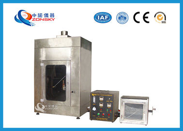 China Wire Flammability Testing Equipment For 45 Degree Burning Characteristics factory
