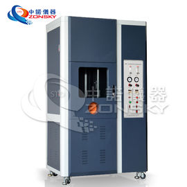 Vertical FRLS Testing Instruments , Single Wire And Cable Combustion Test Equipment