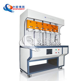 China Six Stations Robot Cable Torsion Tester / Robot Cable Twisting Testing Equipment / Cable Torsion Test Machine factory