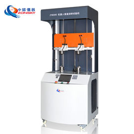 China Two Stations Robot Cable Torsion Tester / Robot Cable Twisting Testing Equipment factory